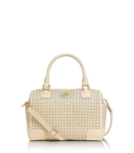 Robinson Perforated Middy Satchel  | Womens Robinson | ToryBurch.com