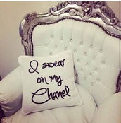 pillow,home decor,quote on it,classy wishlist,quote on it pillow,home accessory,chanel t-shirt,bedroom,living room,couch,gauche,armchair