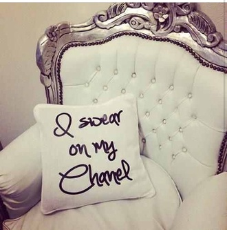 pillow home decor quote on it classy wishlist quote on it pillow home accessory chanel t-shirt bedroom living room couch gauche armchair