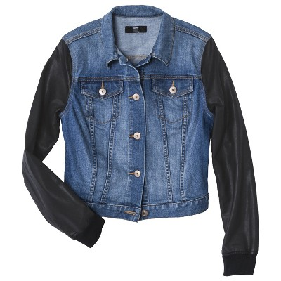 Mossimo® Women's Denim Jacket w/ Faux Leathe... : Target Mobile
