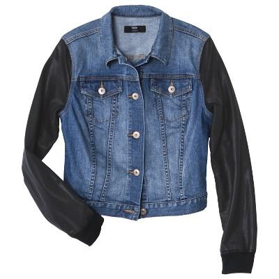 Mossimo® Women's Denim Jacket w/ Faux Leathe... : Target Mobile