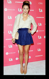 skirt,navy,high waisted skirt,possibly laced,lauren conrad,shirt,bag,shoes