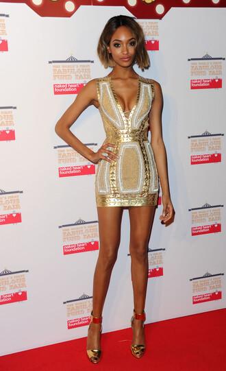 dress gold jourdan dunn pumps short dress