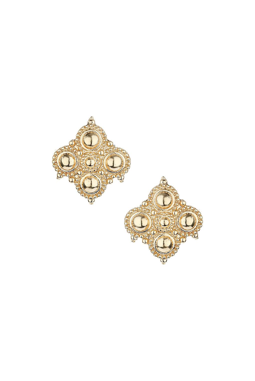 Embellished circle stud earrings