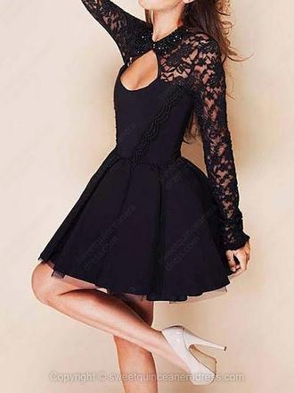 black dress black dress little black dress lace dress lace black lace dress black lace skater skater dress cut-out cut-out dress