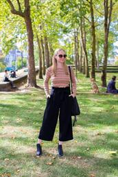 avecamber,blogger,top,pants,shoes,bag,sunglasses