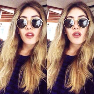 sunglasses american apparel sunglasses american apparel bcbgeneration sweater blonde hair