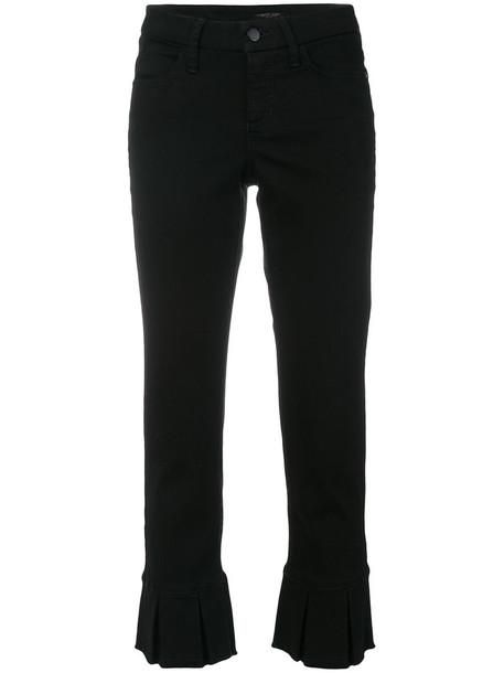 Cambio cropped women spandex cotton black pants