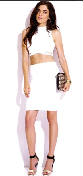 shirt white whole outfit.. skirt