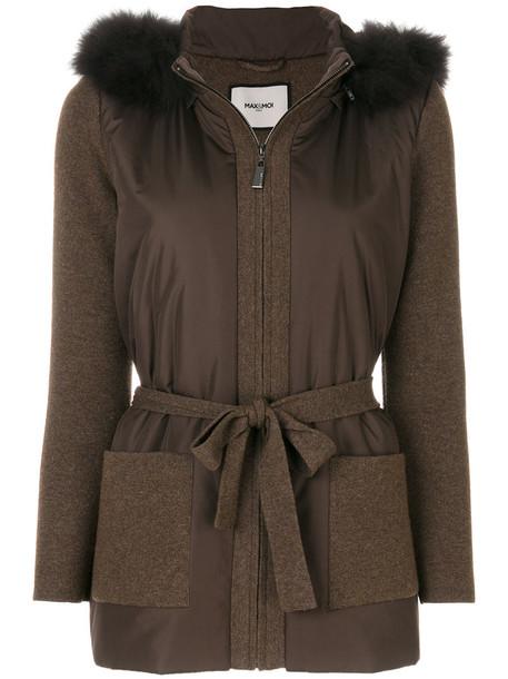 Max & Moi jacket fur fox women brown