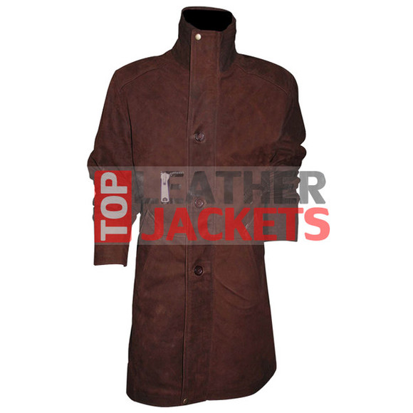 menswear longmire sheriff trench coat movie brown jacket outwear clothes trendy tvseries
