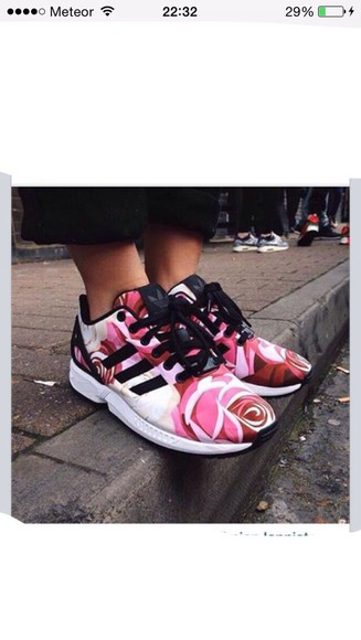 pink and white adidas