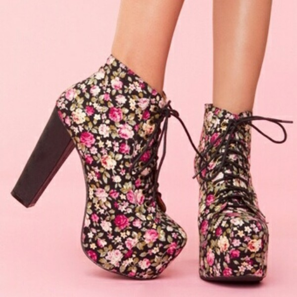 high heels perfect roses pumps jeffrey campbell floral shoes