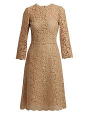 dress,midi dress,midi,lace,light,brown