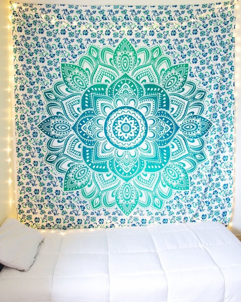 home accessory blue home decor blue tapestry tapestry room accessoires