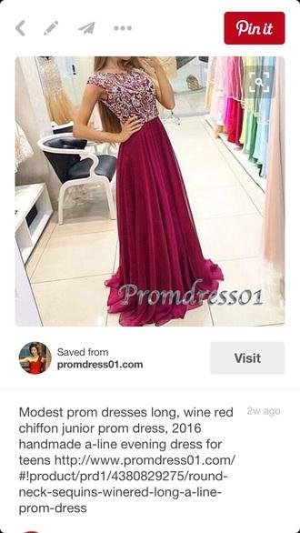 dress red maroon/burgundy jewels prom dress