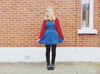 the velvet black grunge blogger denim dress 90s style