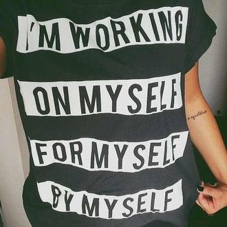 shirt black words on shirt graphic tee