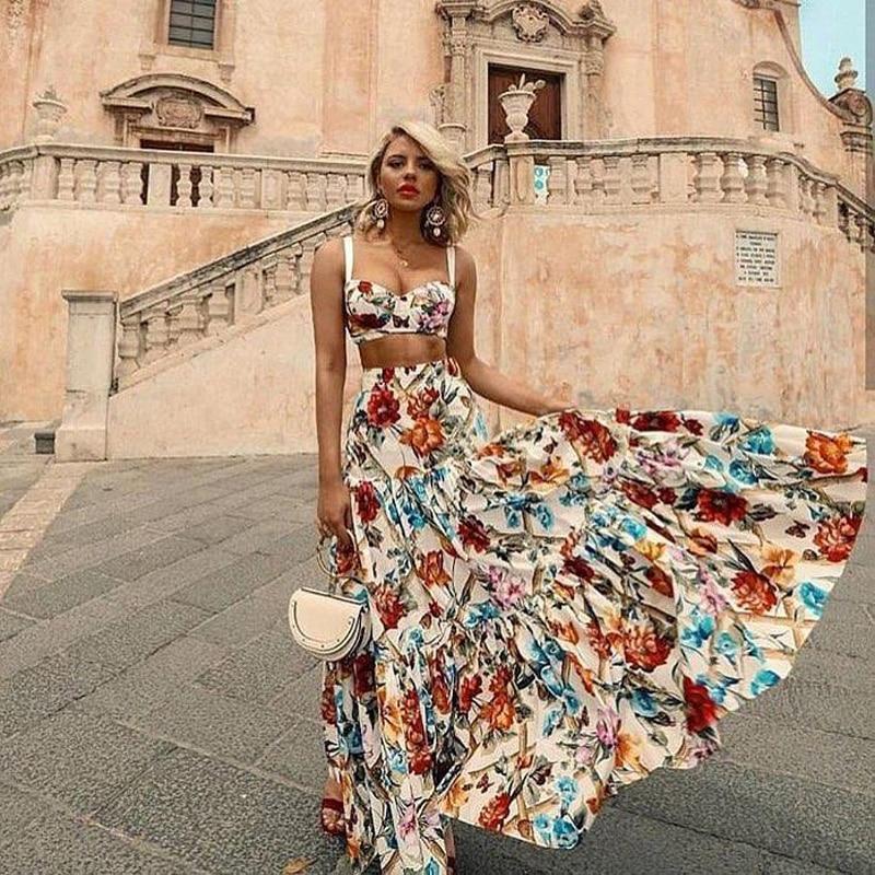 US $21.26 35% OFF|Beach Summer Maxi Dress Women Sleeveless Backless Sexy Bohemian Dresses Plus Size Flower Print Women Long Dress Rode Vestido2019-in Dresses from Women's Clothing on Aliexpress.com | Alibaba Group