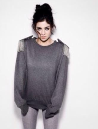 oversized grunge marina and the diamonds oversized sweater sweater grey sweater