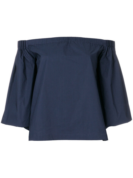 Gabriela Hearst top women cotton blue