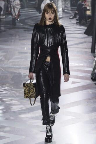 jacket pants purse fashion week 2016 paris fashion week 2016 runway louis vuitton model fall jacket louis vuitton bag