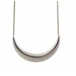 Low Luv by Erin Wasson - Low Luv Crescent Collar Necklace Silver - House of Zoi