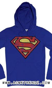 Superman: Logo Hooded Sweater Royal Blue Acme Trendz Store