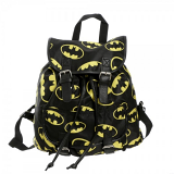 Batman Toss Print Logos Black Slouch Backpack