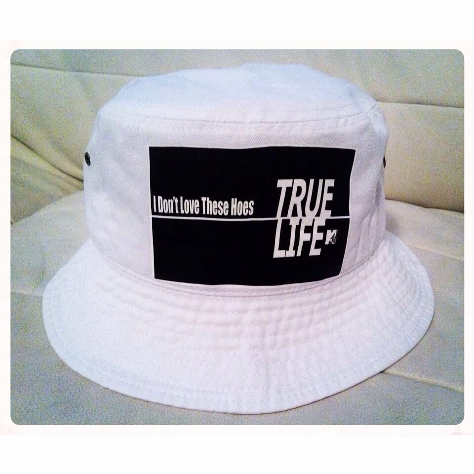VERY Rare True Life Bucket Hat 40 Oz Van Supreme Pink Dolphin Stussy Vintage
