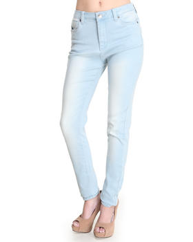 Buy high waisted black marble wash skinny jean women's bottoms from basic essentials. find basic essentials fashions & more at drjays.com