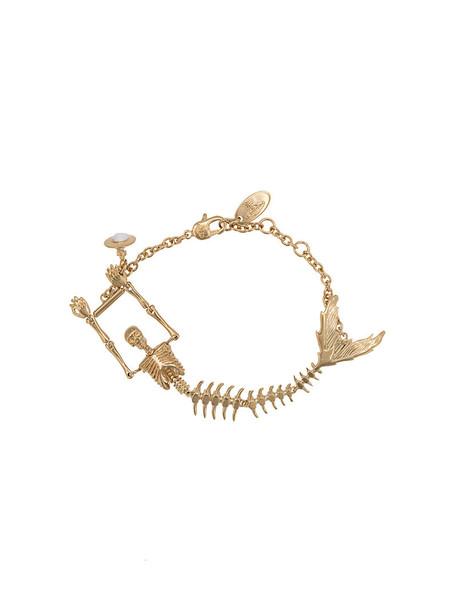 Vivienne Westwood skeleton women grey metallic jewels
