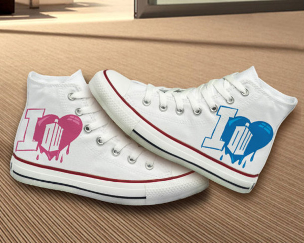 shoes converse painted shoes custom hand painted shoes doctor who doctor who shoes doctor who convers bad wolf birthday gift bff