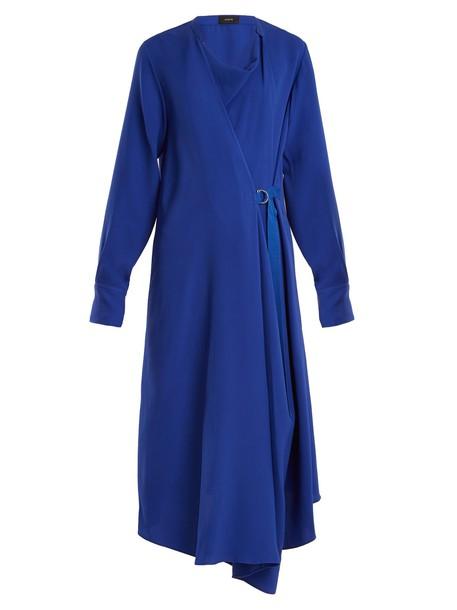 Joseph dress draped silk blue