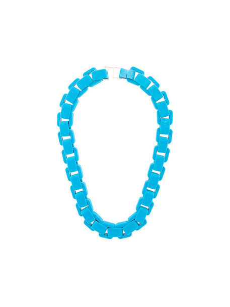Wanda Nylon metal women necklace choker necklace blue jewels