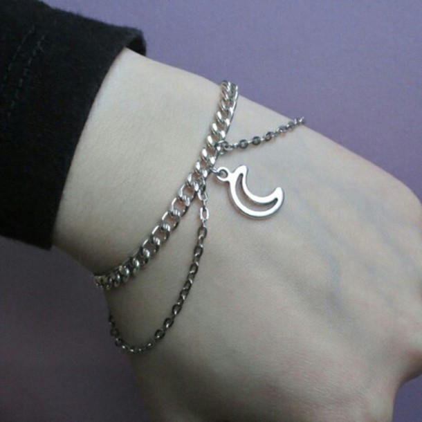 jewels moon bracelets chain charm