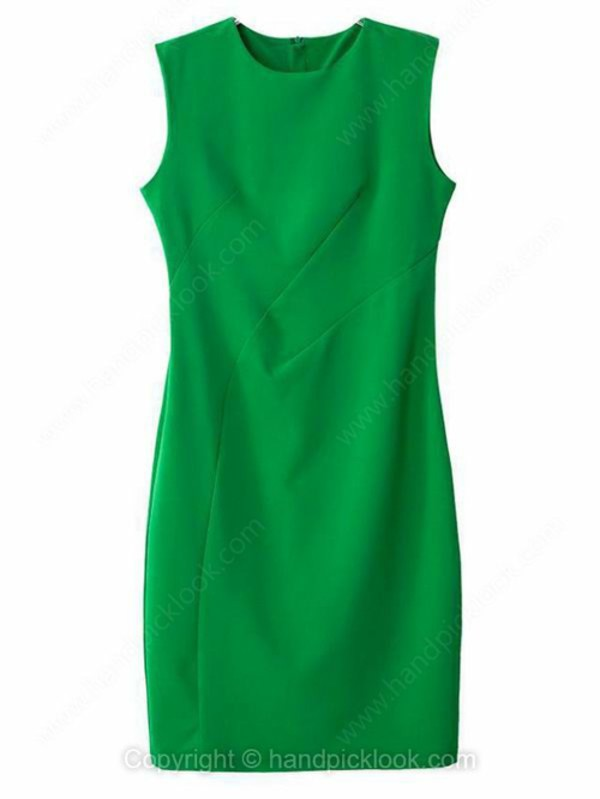 green dress slim dress short dress handpicklook