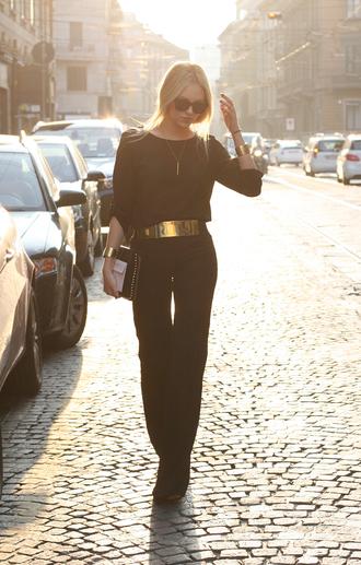 cheyenne meets chanel pants belt t-shirt jewels shoes bag sunglasses