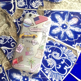 phone cover yeah bunny usa american dream kawaii cute nasa alone rainbow