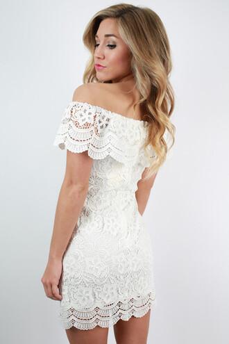 dress crochet crochet dress white crochet white crochet dress summer dress off the shoulder bardot