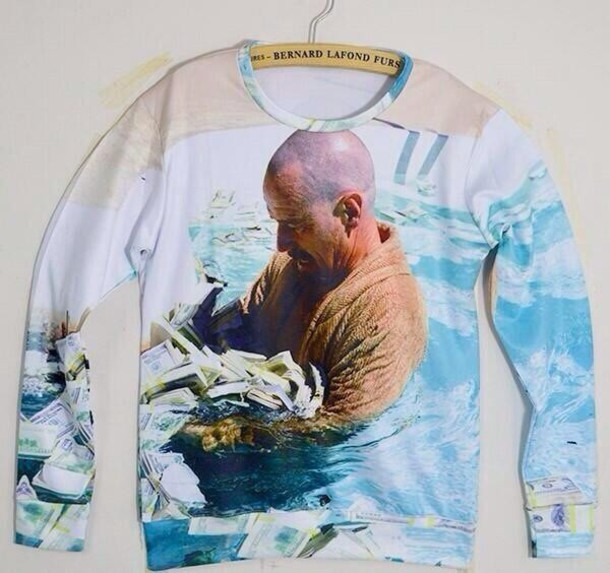Breaking Bad Money Pool Sweater Walter White Jesse