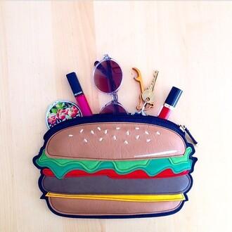 bag hamburger pochette
