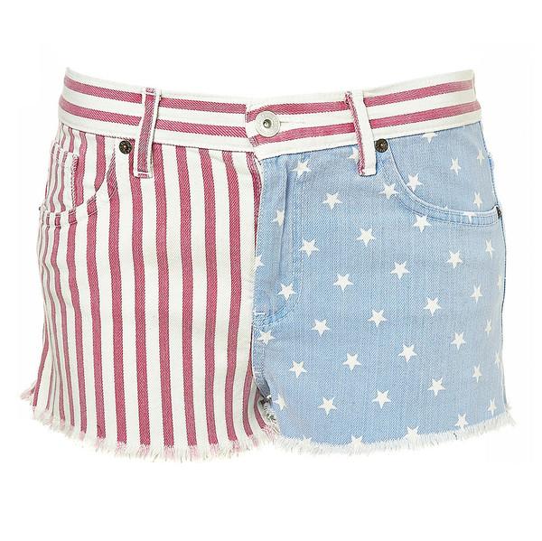 denim american flag flag cut offs shorts