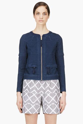 corduroy jacket indigo tashi twill clothes women outerwear
