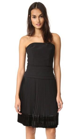dress strapless dress strapless black