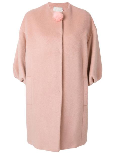 L'Autre Chose coat women wool purple pink