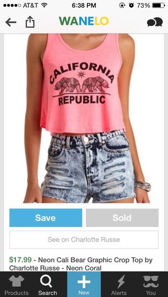 shirt california republic pink charlotte russe