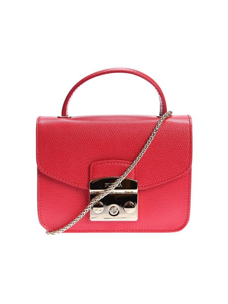 mini bag leather bag leather red