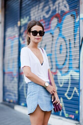 t-shirt white t-shirt v-neck t-shirt v-neck deep v-neck white jeans skirt