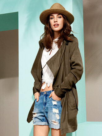 coat trench coat relaxed casual